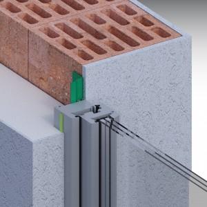 Монтаж с выносом конструкции. Материалы illbruck: лента ПСУЛ, лента пароизоляционная внутренняя.