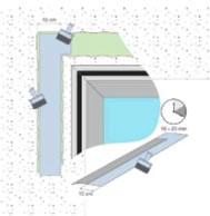 Рисунок 2. Применение контактного клея illbruck ОТ 13