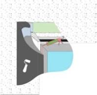 Рисунок 3. Применение резинового клея illbruck OT 15